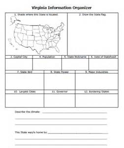 organizer for america 50 states of america worksheet and lesson series
