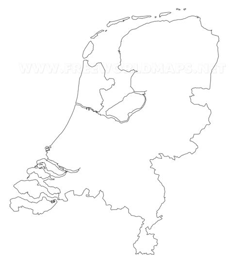 netherlands map outline the netherlands political map