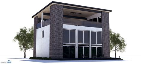 modern house plan with rooftop terrace house plan