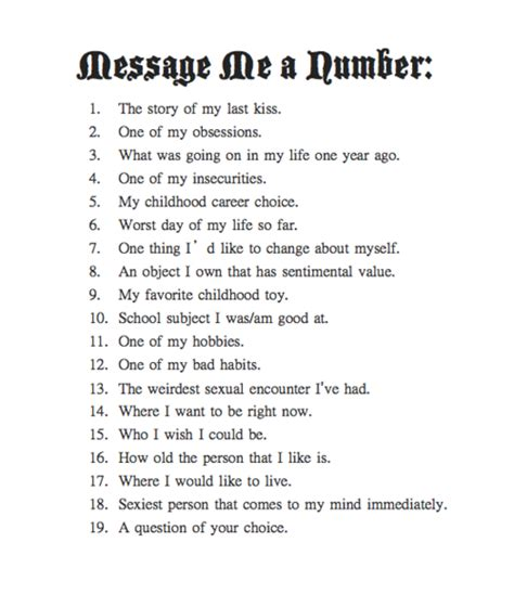 ask me a number on