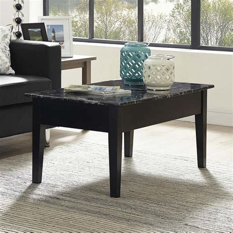 Lift Top Coffee Table Black Faux Marble Lift Top Coffee Table In Black Wm4057b