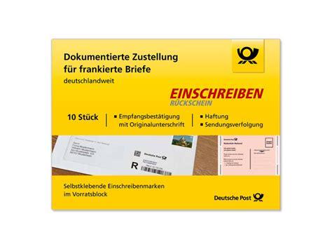 Schweiz Brief Einschreiben einschreiben r 252 ckschein shop deutsche post