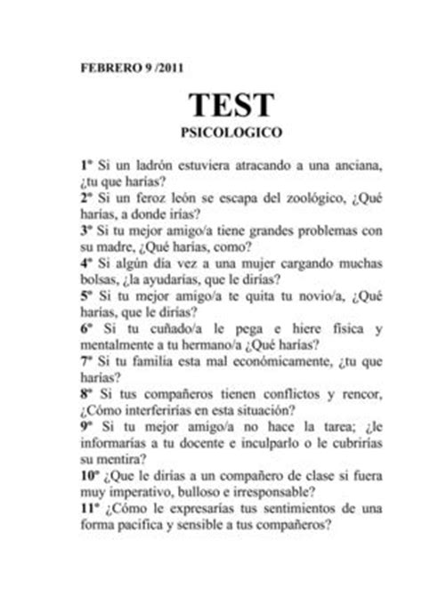 test psicologico calam 233 o test psicologico