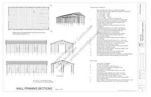 Free Pole Barn Plans Blueprints Download Free Sample Pole Barn Plans G322 40 X 72 16