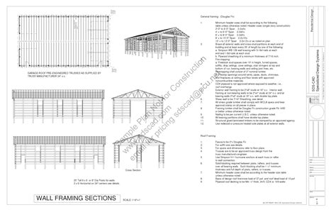 barn blueprints download free sle pole barn plans g322 40 x 72 16