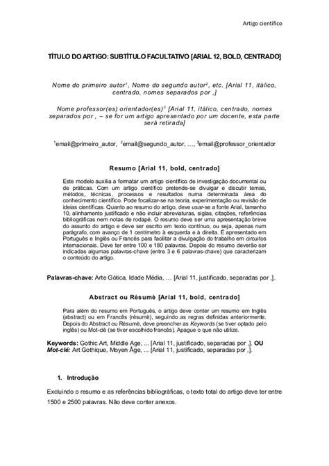 Modelo de artigo cientifico