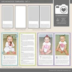 1000 Images About Project Life Baby Inspiration On Pinterest Project Life Baby Baby Album Monthly Baby Photo Template