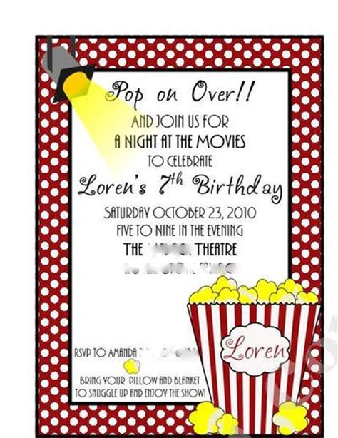 printable popcorn stationary free invitation template out of darkness