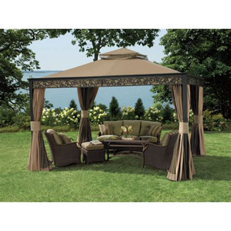 10x12 gazebo bjs living home outdoors 10 x 12 gazebo replacement canopy