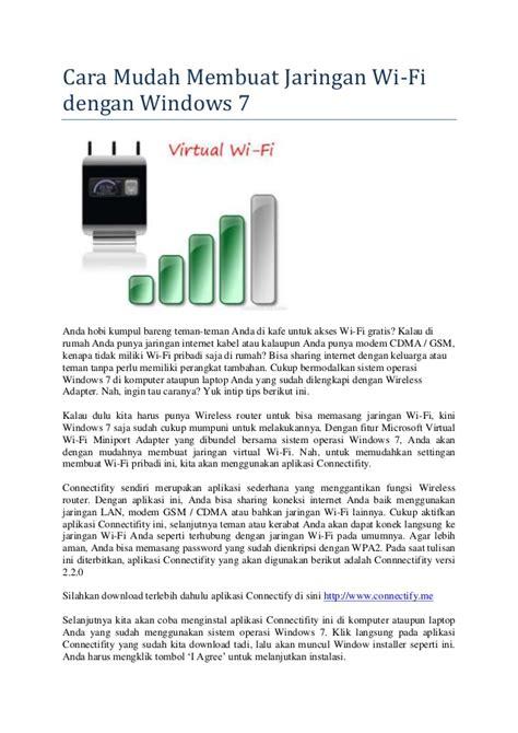 cara membuat jaringan wifi kuat cara mudah membuat jaringan wifi