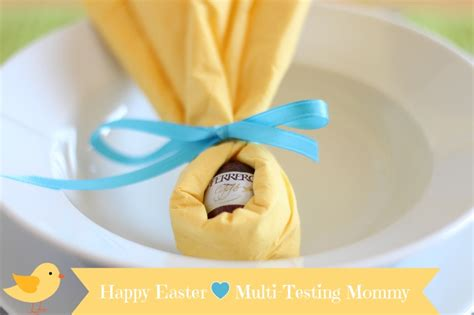 DIY Easter Table Place Setting with Ferrero Rocher products