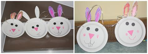 Bunny Paper Plate Craft - paper plate bunny basket and easy preschool craft