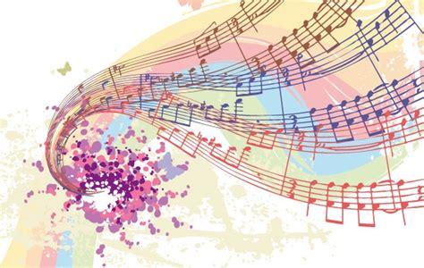 imagenes notas musicales de colores libre de vectores las notas musicales de colores
