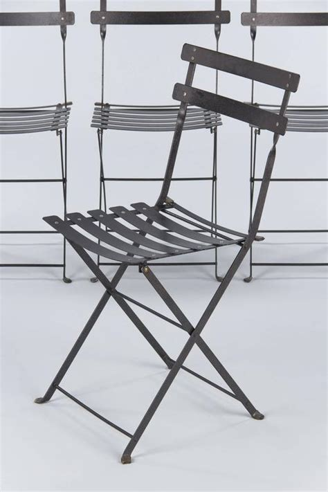 set   french folding bistro metal side chairs  fermob late   stdibs