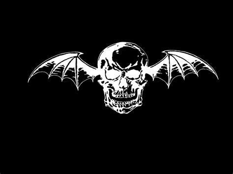 Avenged Sevenfold Deathbat avenged skull logo black background all hd wallpapers