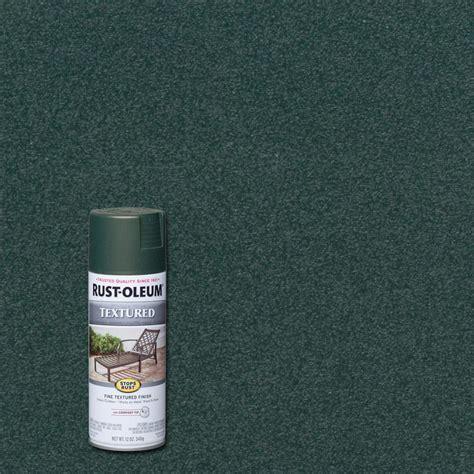 home depot spray paint green rust oleum stops rust 12 oz textured forest green