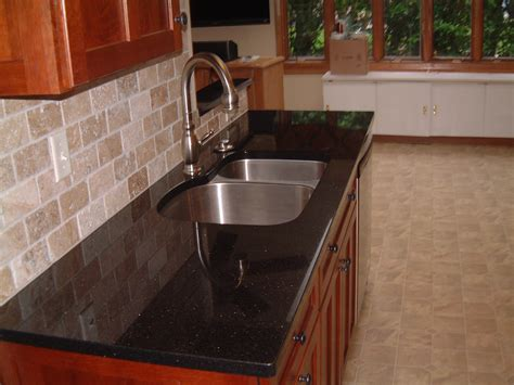 Black Granite Tile Countertops by Florida Tile Pietra Tumbled Travertine
