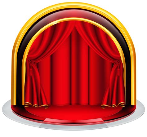Stage with Red Curtains PNG Clipart Image Gallery Yopriceville High Quality Images and