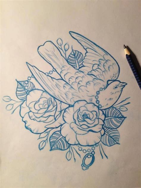 rose dove tattoo dove roses design drawing by mr curtis at