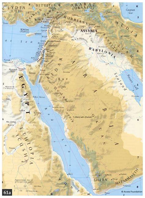 ancient middle east map judah bible atlas