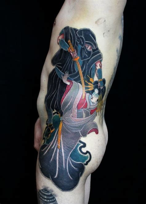 yokai tattoo irezumi ukiyoe yokai yurei utagawakunisada