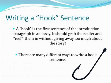how to write a hook sentence for a research paper writing a hook sentence ppt