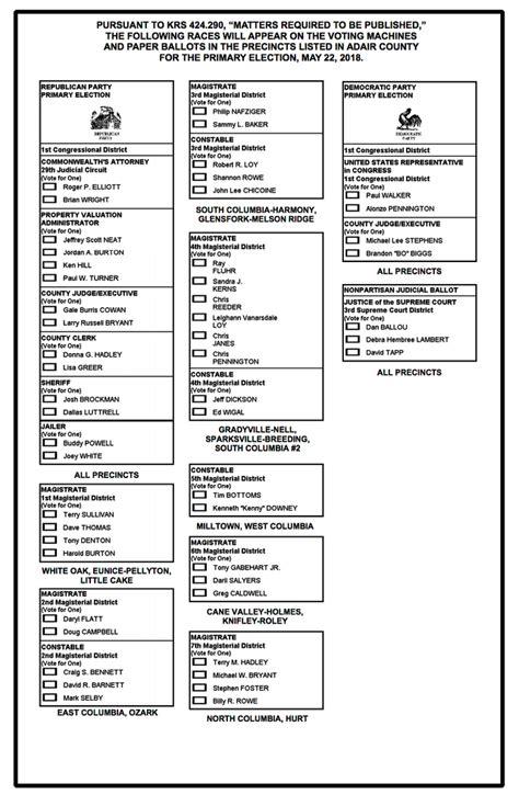 Printable Sle Voting Ballot