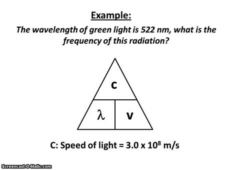 Wavelength Frequency Equation Youtube