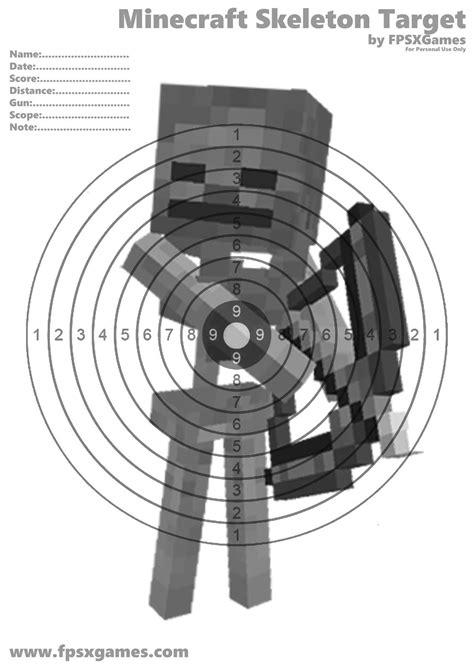 free printable zombie archery targets printable minecraft target projekty na vysk 250 šanie