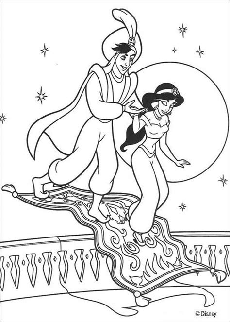 aladdin coloring pages jasmine aladdin and magic carpet