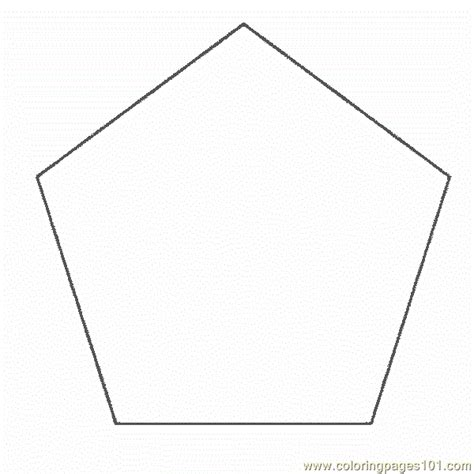 Free Coloring Pages Of Pentagon Shape Pentagon Coloring Page