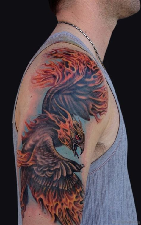 50 brilliant phoenix tattoos for arm