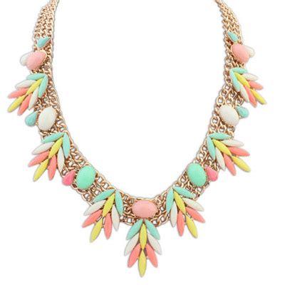 Anting Korea Leaves Shape Copper Earrings 1 softshell multicolor gemstone decorated leaf shape design alloy bib necklaces asujewelry