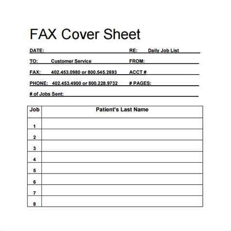 medical fax cover sheet 14 documents in pdf word sle blank fax cover sheet 14 documents in pdf word