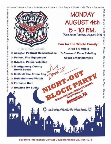 National Night Out Flyer Template 2018 Penaime Com Ad Template 2018