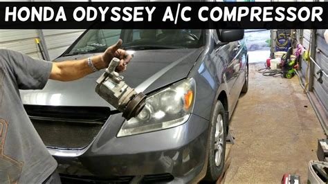 auto air conditioning repair 1989 honda accord free book repair manuals honda odyssey a c compressor removal replacement air conditioner youtube