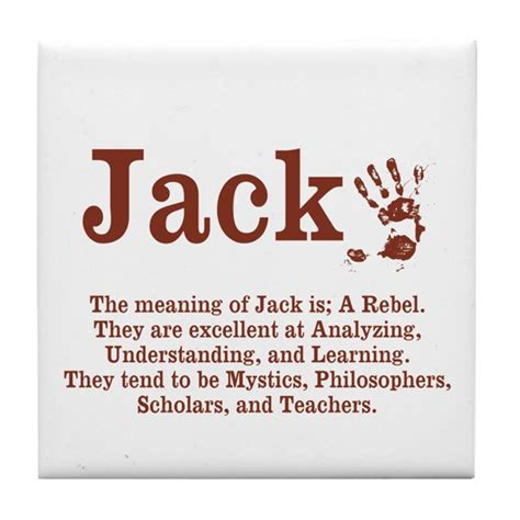 the meaning of jack tile coaster by itsallinthename