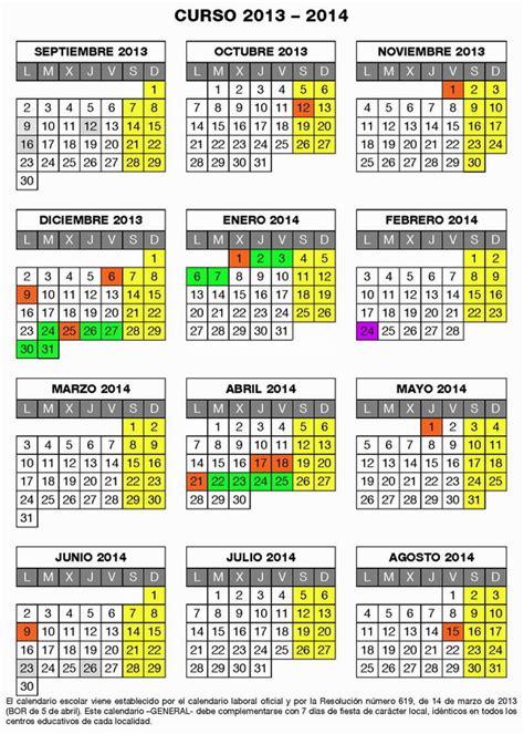 calendario escolar 2013 2014 madridorg 05 04 2013 calendario escolar de la rioja para el curso
