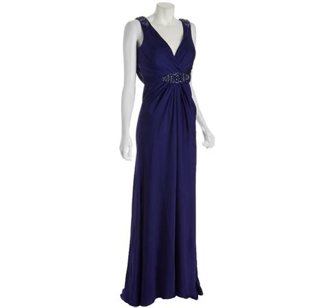 jersey knit gowns alberto makali purple knit jersey jeweled gown with shawl