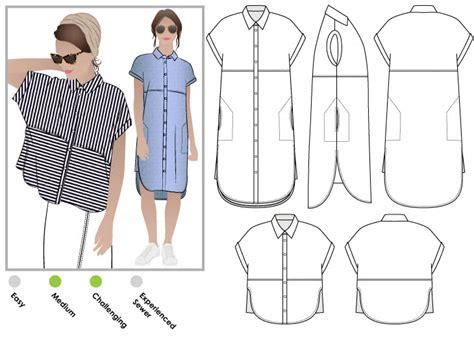 dress pattern maker free download blaire shirt dress pdf style arc