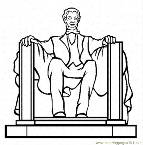 lincoln memorial coloring page free politics coloring