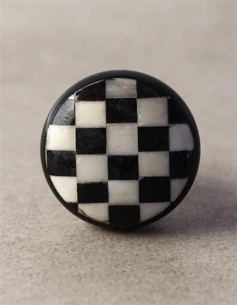 black and white cabinet knobs black and white checkered cabinet bone knob knobco
