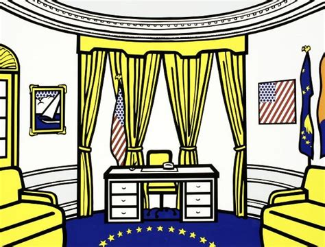 oval office paintings art according to cary the oval office roy lichtenstein