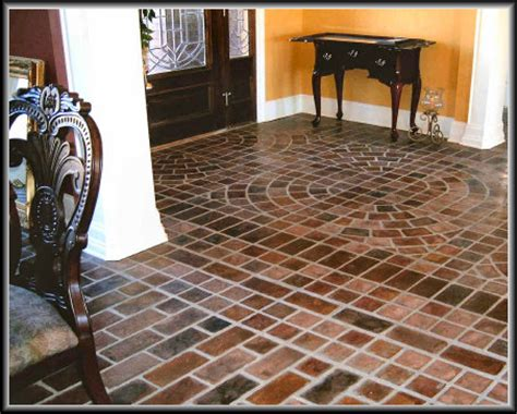 Interior Brick Pavers Flooring by Charleston Brick Floor Photos