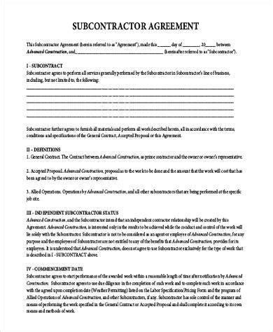 subcontractor agreement template australia need a subcontractor agreement 39 free templates here 15