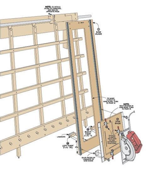 panel saw woodworking plan sliding carriage panel saw woodsmith plans