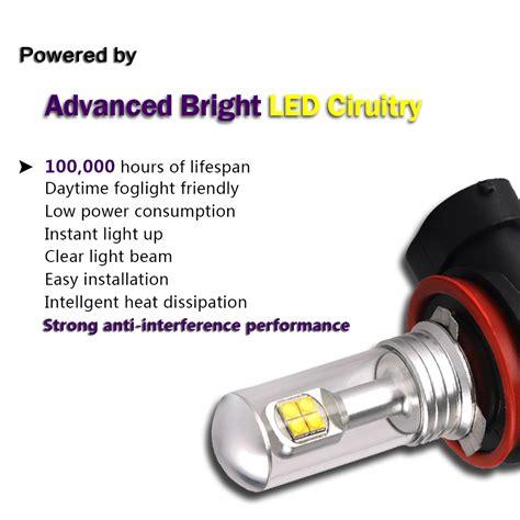brightest led fog light bulbs nighteye h11 80w led fog light bulbs daytime driving l