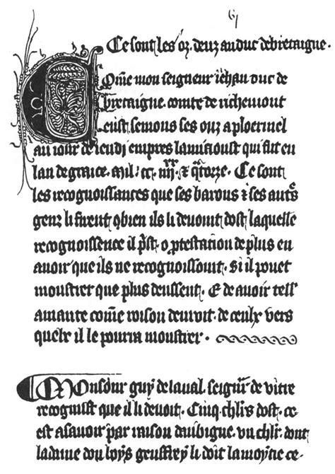 2745326333 le livre du duc des noblesses de bretagne le livre des ostz 1294 un