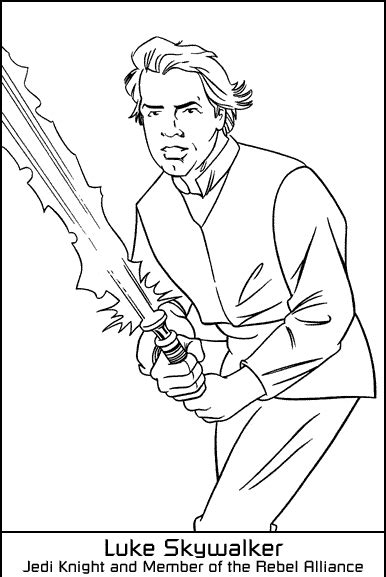 coloring pages wars luke skywalker free wars luke skywalker coloring pages