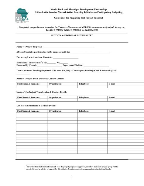 doc 7681024 project proposal template 10 free templates